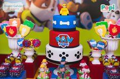 Hoje temos esta linda Festa Patrulha Canina! Imagens e decoração Popi Design de Eventos. Lindas ideias e muita inspiração. Bjs, Fabiola Teles. Mais ideias... Bolo Do Paw Patrol, Cumple Paw Patrol, Paw Patrol Cake, Paw Patrol Party, Puppy Birthday, First Birthday Cakes, 3rd Birthday Parties, 2nd Birthday, Paw Patrol Birthday Theme