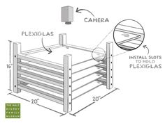 Advanced Multiplane Camera set-up built with wood and plexiglass