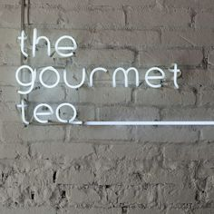 The Gourmet Tea store in Sao Paulo, Brazil. Really love the lower case white neon sign...