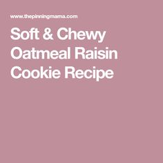 Soft & Chewy Oatmeal Raisin Cookie Recipe Soft Chewy Peanut Butter Cookie Recipe, Panera Chocolate Chip Cookie, Oatmeal Cookie Recipes, Chocolate Chip Cookies, Subway Oatmeal Raisin Cookies, Oatmeal Cookies, Snicker Doodle Cookies, Perfect Cookie, Christmas Cooking