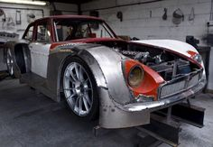 Classic 1966 MGB GT rebuilt to FIA GT3