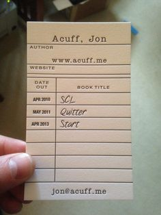 Don't do boring. Or, my new business cards.
