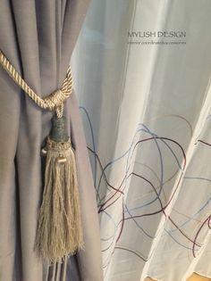 カーテンのタッセル #インテリア #インテリア雑貨 Window Styles, Tassel Necklace, Tassels, Interior Design, Fashion, Design Interiors, Moda, Home Interior Design, La Mode