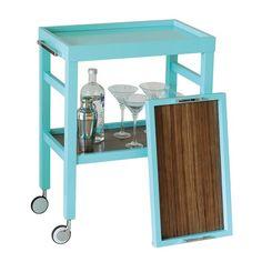 Idea for painting bar cart -Avalon Turquoise Bar Cart