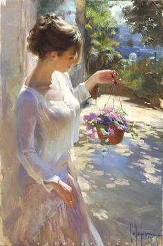 """culturenlifestyle: """" Delicate and Sensual Classical Portrait Compositions By Russian Artist Vladimir Volegov Russian Artist Vladimir Volegov paints beautiful portraits of young women and girls set in. Painting People, Woman Painting, Figure Painting, Painting Art, Oil Paintings, Painting Abstract, Light Painting, Abstract Sculpture, Painting Tips"""