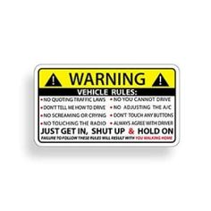Funny Vehicle Safety Warning Rules Sticker Adhesive Vinyl for Car Truck Window Graphic Bumper Title: Funny Vehicle Safety Warning Rules Sticker Adhesive Vinyl for Car Truck Window Jeep Stickers, Cool Stickers, Funny Stickers, Bumper Stickers, Jeep Humor, Car Humor, Jeep Hood Decals, Jeep Wrangler Bumpers, Vinyl For Cars