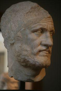 Head of a Bearded Man, Marble, Greek, !60-150 BC, Getty Villa, Malibu, USA