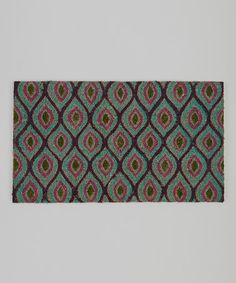 Take a look at this Teal, Purple & Green Eye Rug by Dennis East International on #zulily today!