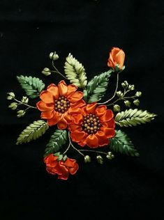 Wonderful Ribbon Embroidery Flowers by Hand Ideas. Enchanting Ribbon Embroidery Flowers by Hand Ideas. Ribbon Embroidery Tutorial, Embroidery Flowers Pattern, Silk Ribbon Embroidery, New Embroidery Designs, Embroidery Kits, Embroidery Stitches, Machine Embroidery, Ribbon Art, Ribbon Crafts