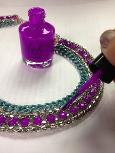 Use nail polish to update old jewelry with new colors or to better fit your wardrobe.