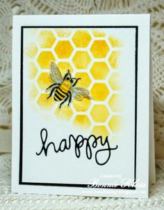 Stamping with Klass: Bee Happy