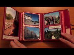 Mini album. Un paseo por Madrid. DIY Scrapbook - YouTube