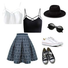 """""""Sin título #15"""" by cande-izzo on Polyvore featuring moda, Rumour London, Converse y Maison Michel"""