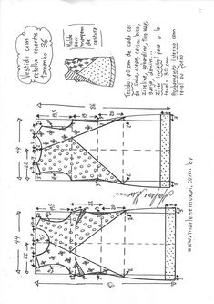 legging-sem-costura-lateral-PP. Dress Sewing Patterns, Sewing Patterns Free, Clothing Patterns, Sewing Tutorials, Fabric Patterns, Blouse Tutorial, Sewing Blouses, Pattern Drafting, Pants Pattern
