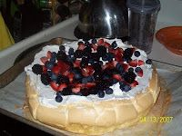 Joan's Low Carb/No Sugar Diet & Recipes: Pavlova beautiful dessert, low carb recipe