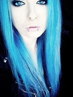 blue hair photo bibibarbaric's photos