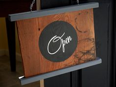 This would be good to hang in the kitchen! Open Closed Sign 2 Sided Painted Wood Sign by NoMoreComputers, $50.00
