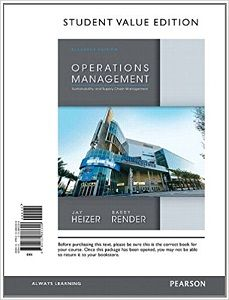 Instant download and all chapters Solutions Manual Operations Management 11th Edition Jay Heizer, Barry Render  View free sample: Solutions Manual Operations Management 11th Edition Jay Heizer, Barry Render