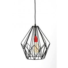 Lampa druciana Diamond - JABBA Design Ceiling Lights, Retro, Diamond, Pendant, Design, Home Decor, Decoration Home, Room Decor, Hang Tags