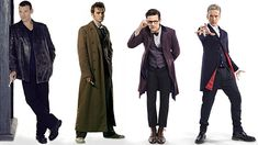 The Four Doctors: L-R Christopher Eccleston, David Tennant, Matt Smith, Peter Capaldi (Pic: BBC)