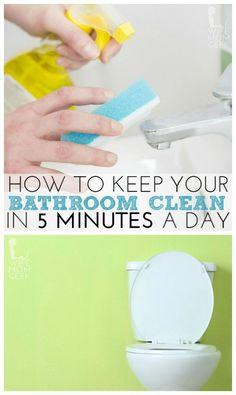 Keeping your bathroom clean