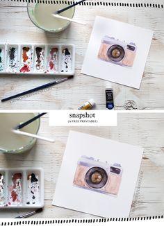ART: 'Snapshot', a Free Vintage Camera Printable   Wonder Forest: Design Your Life.