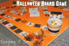 Keeping it Simple: Halloween Board Game with Free Printable.  Perfect for family night and class parties. @keepingitsimple
