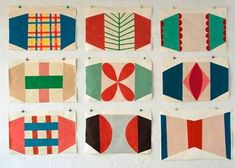 Sabine Finkenauer ---- what appeals to you about this (colors, shape interaction, badge effect, etc)? Textile Prints, Textile Patterns, Textiles, Surface Pattern Design, Pattern Art, Ideias Diy, Color Shapes, Pretty Patterns, Chinoiserie