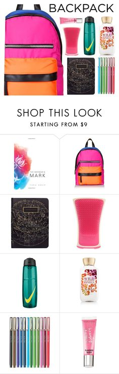 """""""In My Backpack"""" by tara-omar ❤ liked on Polyvore featuring Topshop, Tangle Teezer, NIKE, Beauty Rush, backpack and inmybackpack"""