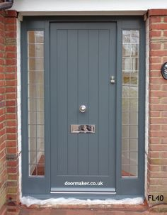 Oak Cottage Doors Framed Ledged Oak or Painted Hardwood Oak Cottage Doors Framed Ledge Cottage Front Doors, Front Door Porch, Grey Front Doors, Porch Doors, Cottage Door, Wooden Front Doors, Modern Front Door, Front Door Entrance, Exterior Front Doors