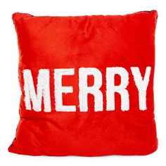 cozy shop | let go & have fun White Christmas Decorations Diy, Soft Pillows, Throw Pillows, Pillow Quotes, Oh Deer, Have Fun, Plush, Merry, Holiday Quote