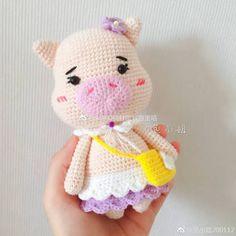 Crochet Case, Crochet Pig, Crochet Animals, Crochet Dolls, Amigurumi Patterns, Crochet Patterns, Etsy Handmade, Hello Kitty, Hats
