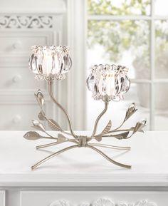 Crystal Flowers Candleholder