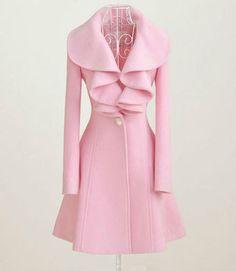 Pink ruffled coat