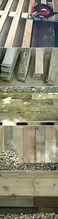 A rustic-looking country-style deck is possible using pallet wood. This patchwork of rough wooden planks offering varying degrees of patina make for a no-worry, easy-to-care-for deck. When choosing pallets to build a wood deck, it is best to choose those used to stock goods. Designed for outdoor use, they are often pretreated, sturdy and thick, and can be easily...