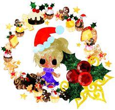 フリーのイラスト素材クリスマスと女の子の可愛いイラスト -お菓子のリース-  Free Illustration The cute illustration of Christmas and a girl -Sweets wreath-   http://ift.tt/2frFY1W
