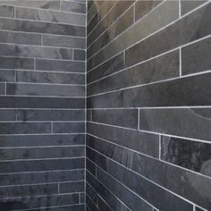 I love slate. Bathroom walls & shower?