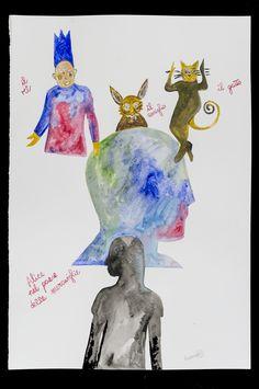 Alice - Fabrizio Barsotti Acquarello su carta cm 56x38 coming soon on www.livinart.it