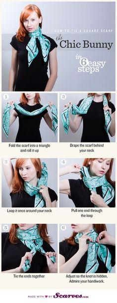 noeud de foulard chic