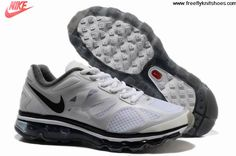 Sale Cheap Mens Nike Air Max 2012 Summit White Metallic Silver Anthracite Shoes Shoes Store