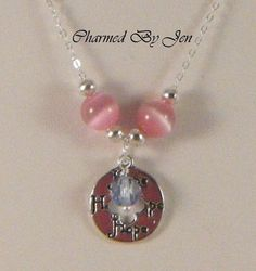 PREGNANCY / INFANT LOSS PAIL Awareness Cat's Eye Silver Necklace w/ Pendant  $34.99