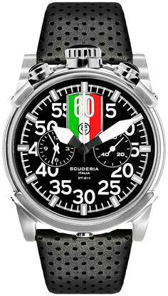 CT Scuderia Saturno Bullhead Chrono Italia - Black/Silver