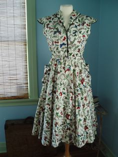 One of  a Kind 1940s Butterfly Rhinestone Party Dress  - SALE -. $185.00, via Etsy.