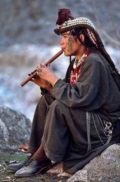 Suonatore Mongolo di flauto