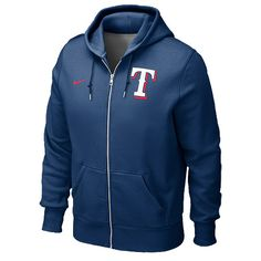 Texas Rangers Classic Full-Zip Hooded Sweatshirt by Nike - MLB.com Shop