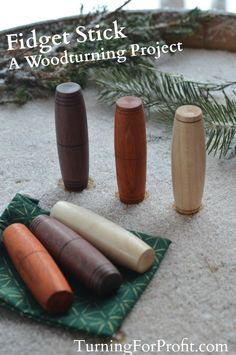 Learn Woodworking Fidget Stick - a woodturning project for kids of all ages - Kids from 5 to 85 will love playing with their fidget stick. Turn one on your lathe and make it extra special for those you love.