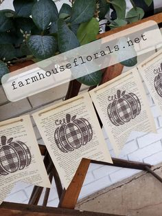 "This listing is for a buffalo plaid pumpkin banner made on old vintage book pages. The banner is handmade by printing letters and images onto old book pagesThere are 7 pennants total measuring 35""x7.5"". The banner is strung on jute twine and has 10 inch ties on each end. The banner is approx 55 inches long.*Alterations"