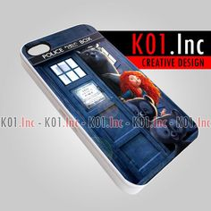 Brave and Bear in Tardis Box  iPhone 4/4s/5 Case  by K01Inc, $15.50