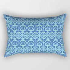 Vintage elegant pattern blue Rectangular Pillow