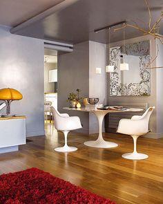 Tulip Collection designed by Architect Eero Saarinen circa 50's image: Concha Rodriquez via Nuevo Estilo #furniture